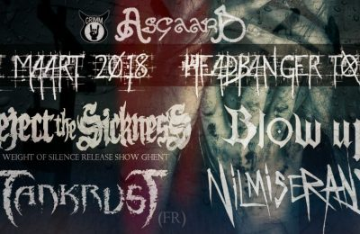 Reject The Sickness, Nil Miserans, TankrusT and Blow Up live at Asgaard