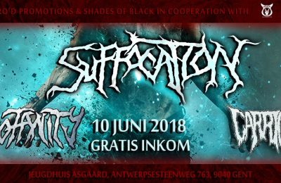 Suffocation, Profanity and Carrion live at GRIMM's Jeugdhuis Asgaard