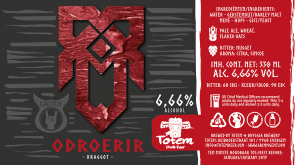 Odroerir, GRIMM Gent's first beer, brewed in collaboration with Totem