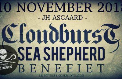 Cloudburst, Benefiet voor Sea Shepherd