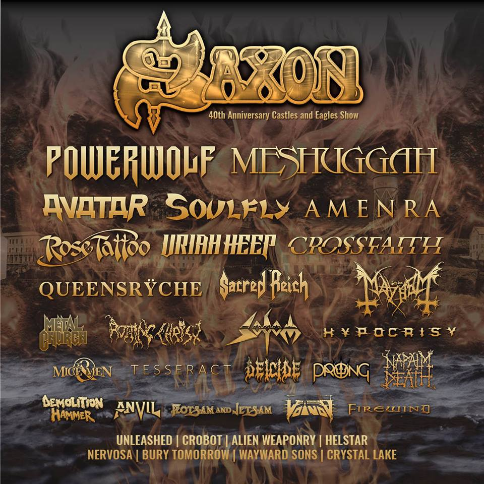 Saxon will headline at Alcatraz 2019!