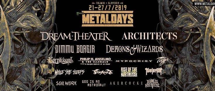 The current lineup for MetalDays 2019!