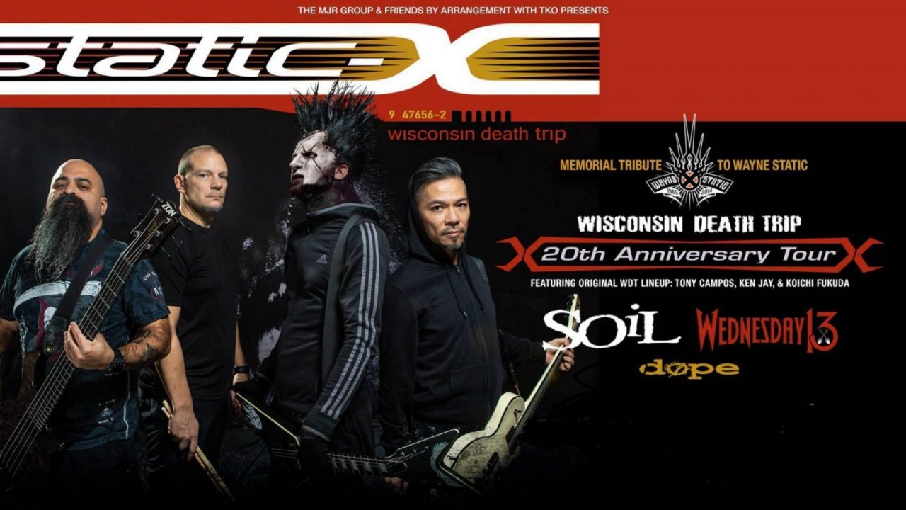 Static X Wisconsin Death Trip 20th Anniversary Tour Trix